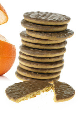 Biscuits Orange nappés chocolat Etui de 24 biscuits
